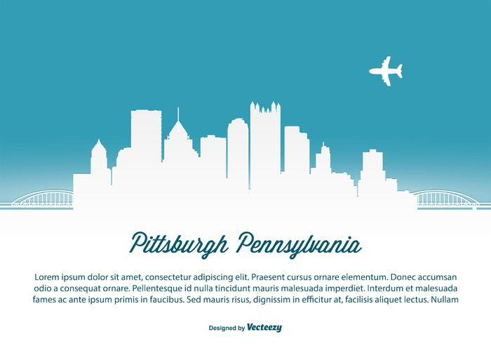 Pittsburgh Skyline illustration