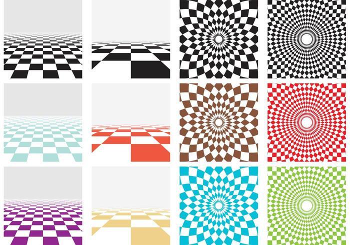 Vector Checker Board Patterns