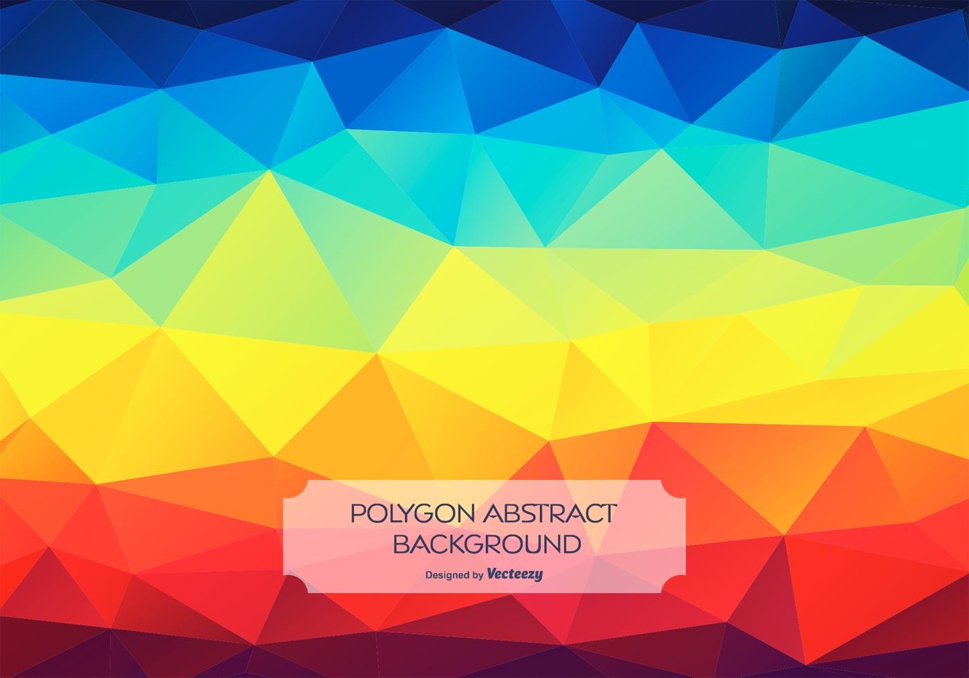 Rainbow Abstract Polygon Style Background Illustration