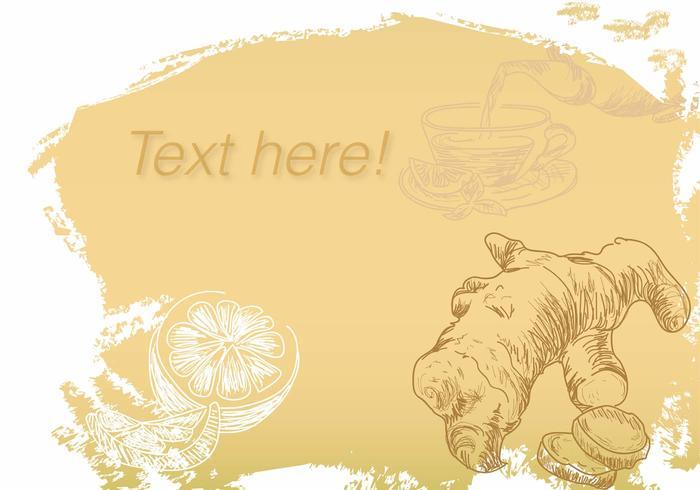 Vektor Bakgrund Ginger Tea