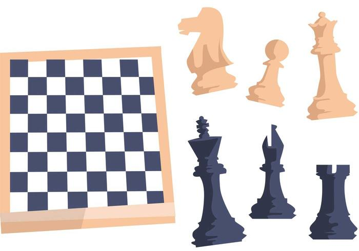 Vector Checkerboard Chess Set