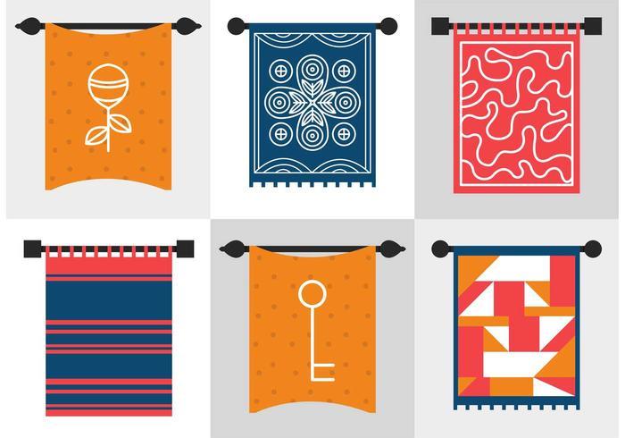 Wall Tapestry Vectors