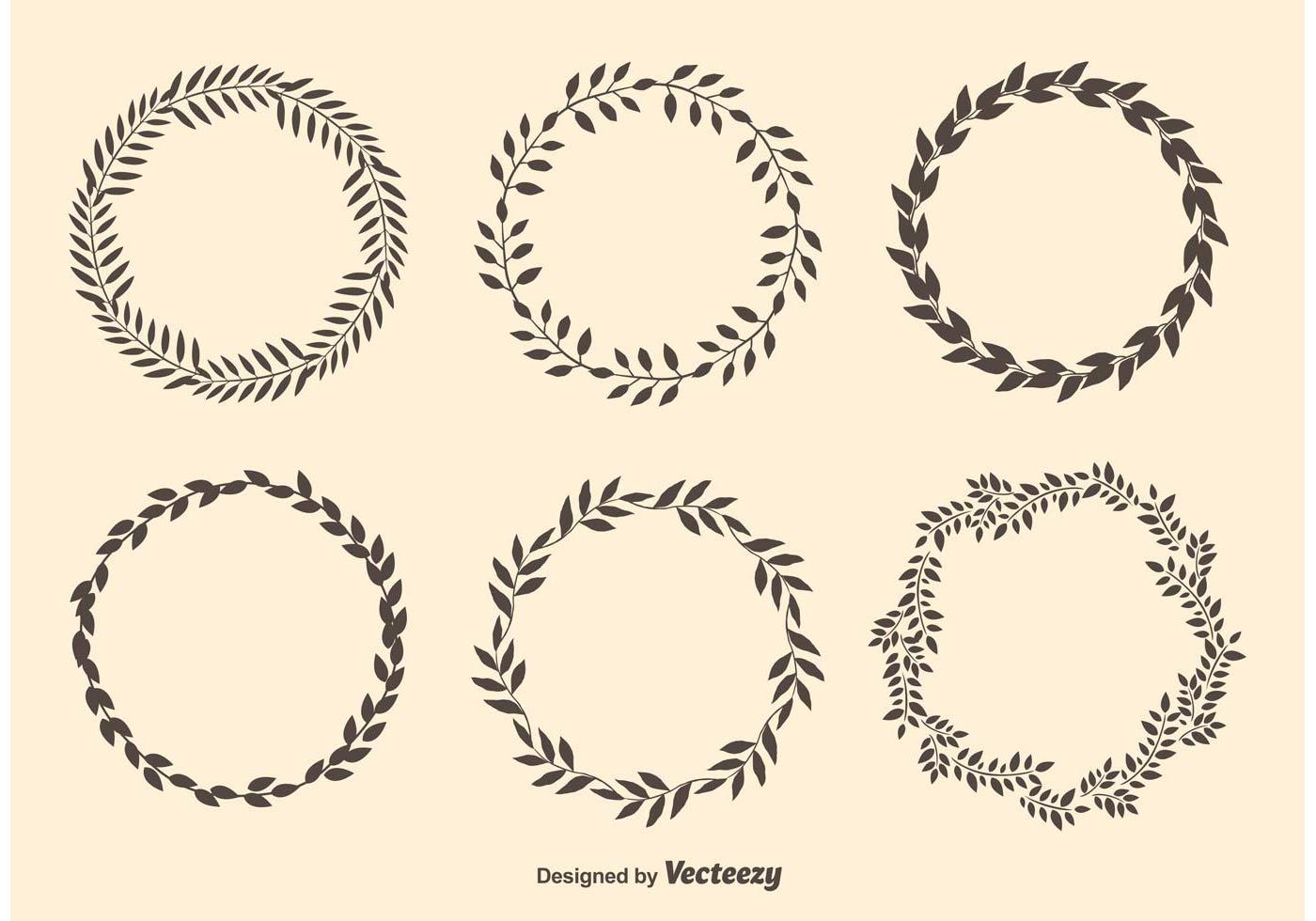 Laurel Circle Wreaths Download Free Vectors Clipart