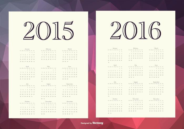 2015 2016 Calendários