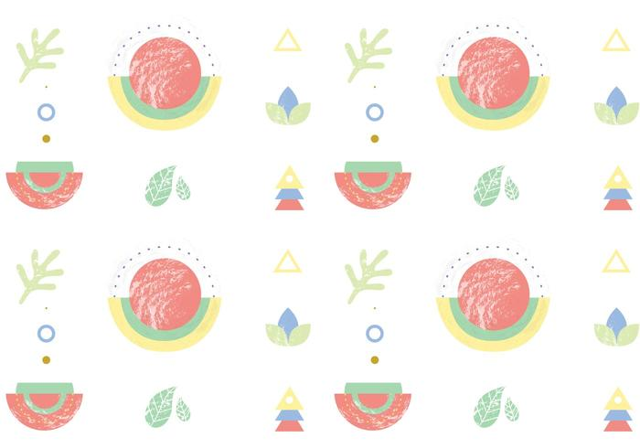 Abstract Shapes Pattern Background Vector