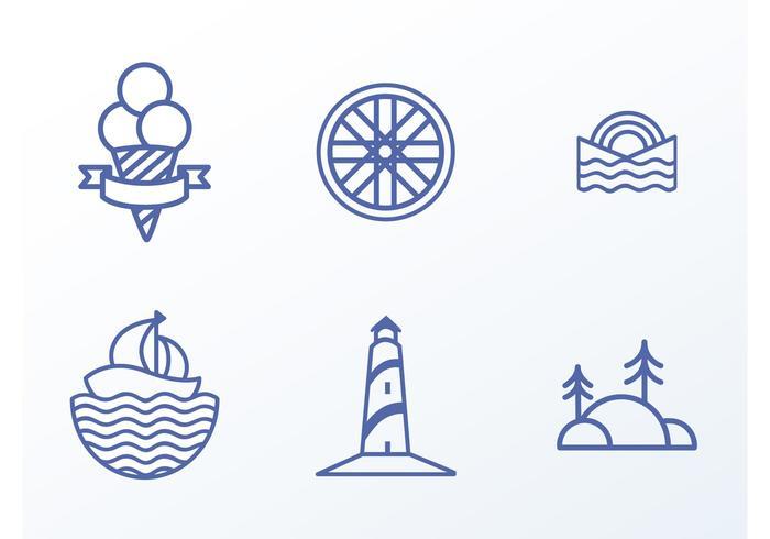 Vector Beach Icons