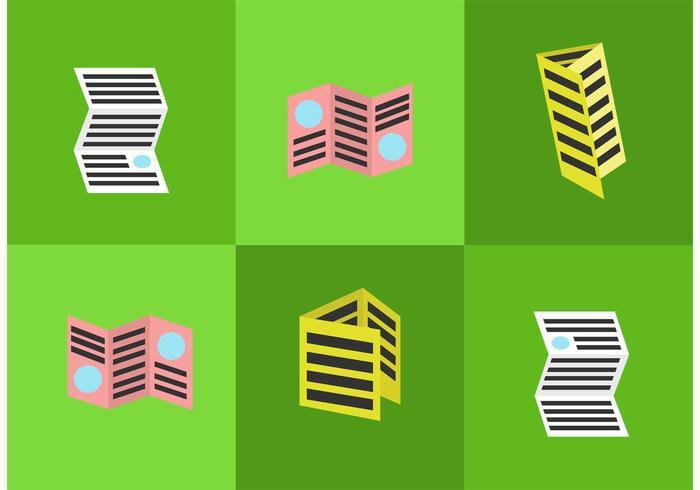 Tri Fold Brochure Icons