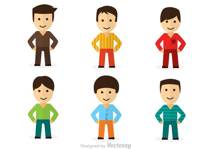 Cool Dude Character Vectors