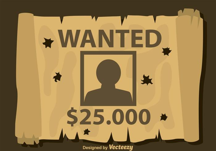 Bullet Holes On Wanted Poster Download Free Vector Art Stock