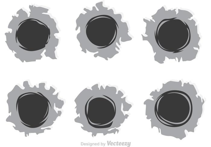 Bullet Holes Efecto de papel