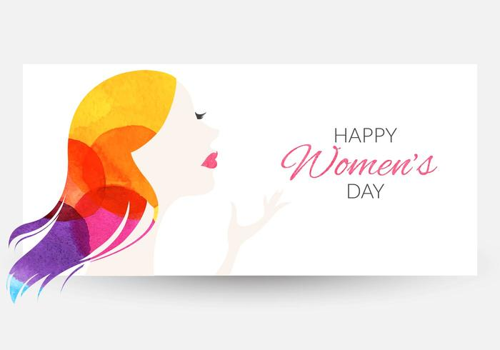 Free Women27;s Day Watercolor Vector Banner