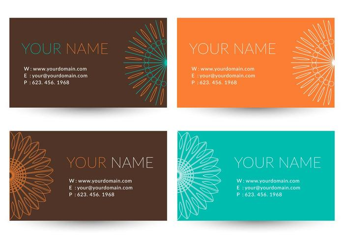 Free Trendy Business Vector Card