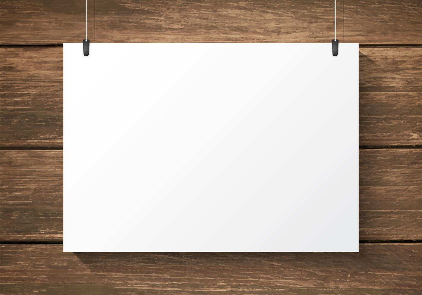 Free Paper Plate On Wooden Background Vector Download
