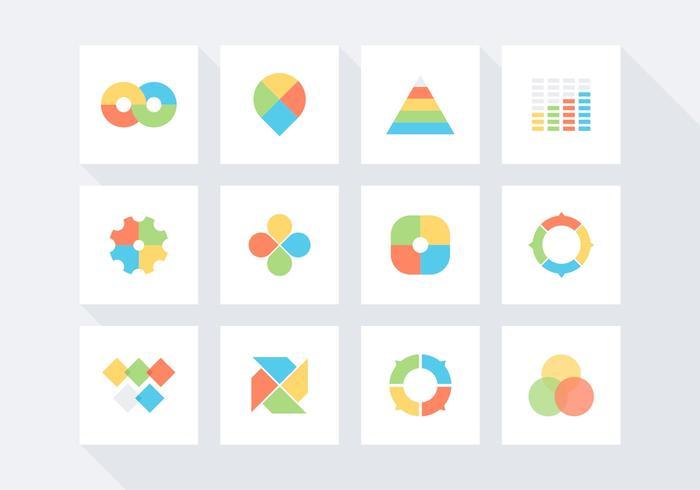 Set di icone vettoriali gratis infografica