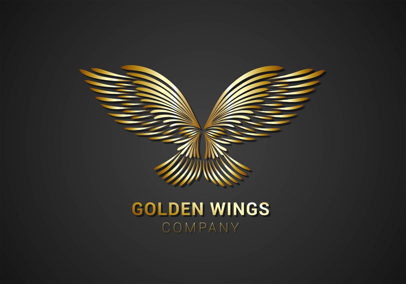 Free Golden Wings Logo Vector Download Free Vector Art Stock