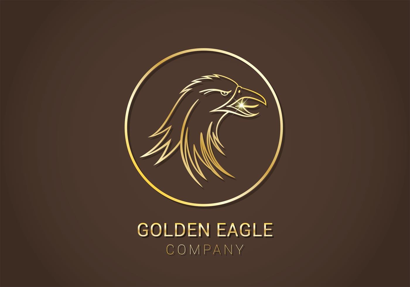 golden eagle vector logo download free vector art stock