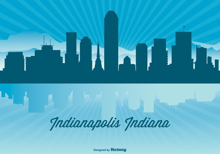 Indianapolis Skyline Illustration