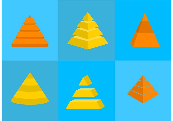 Pyramid Chart Vector Icons