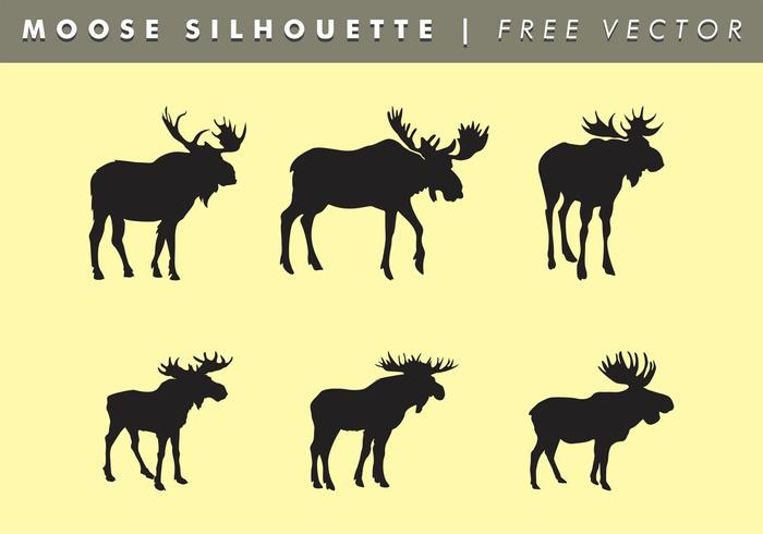 Moose Silhouettes Vector Free