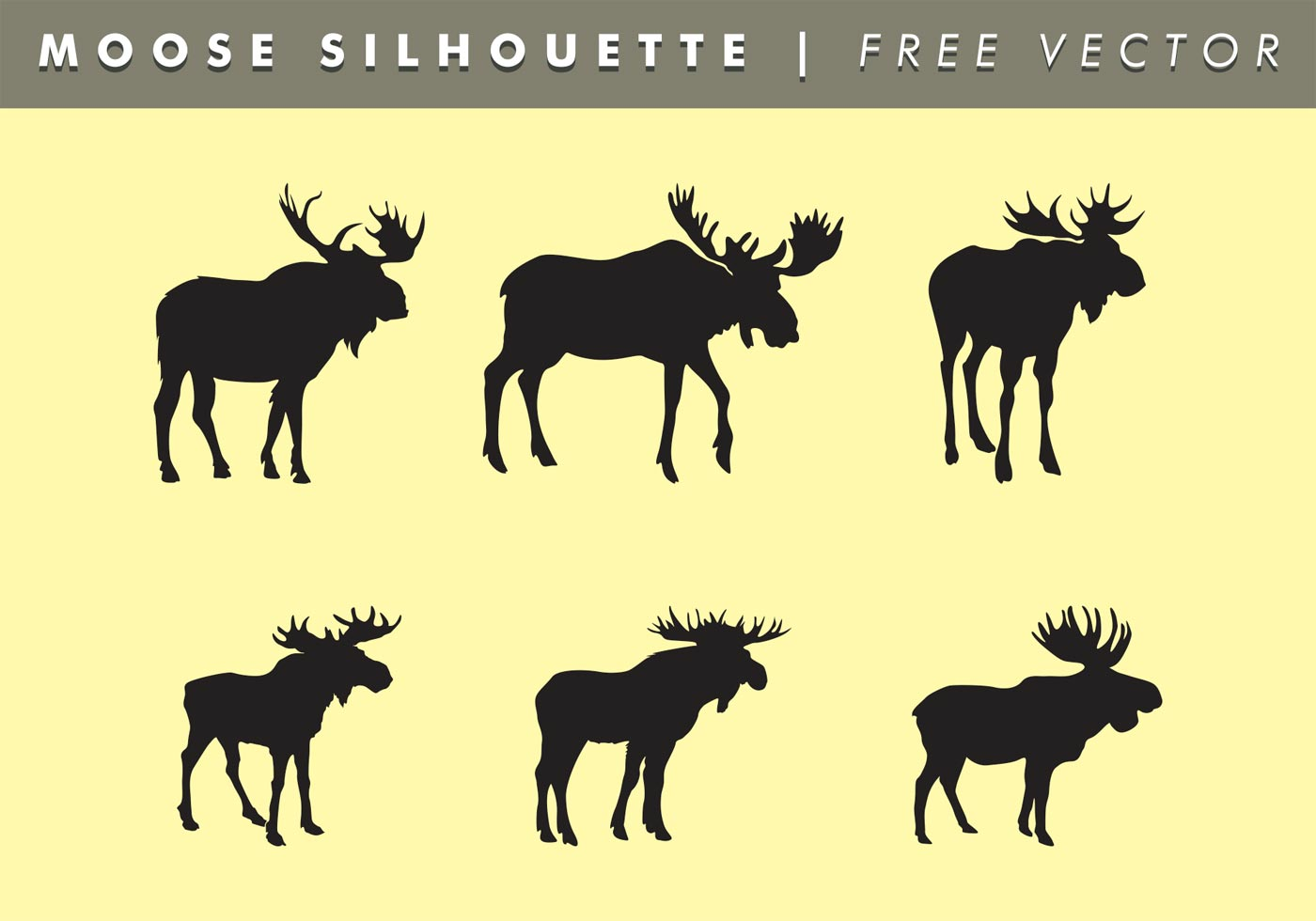 moose silhouettes moose silhouettes vector free download free vector art 5039