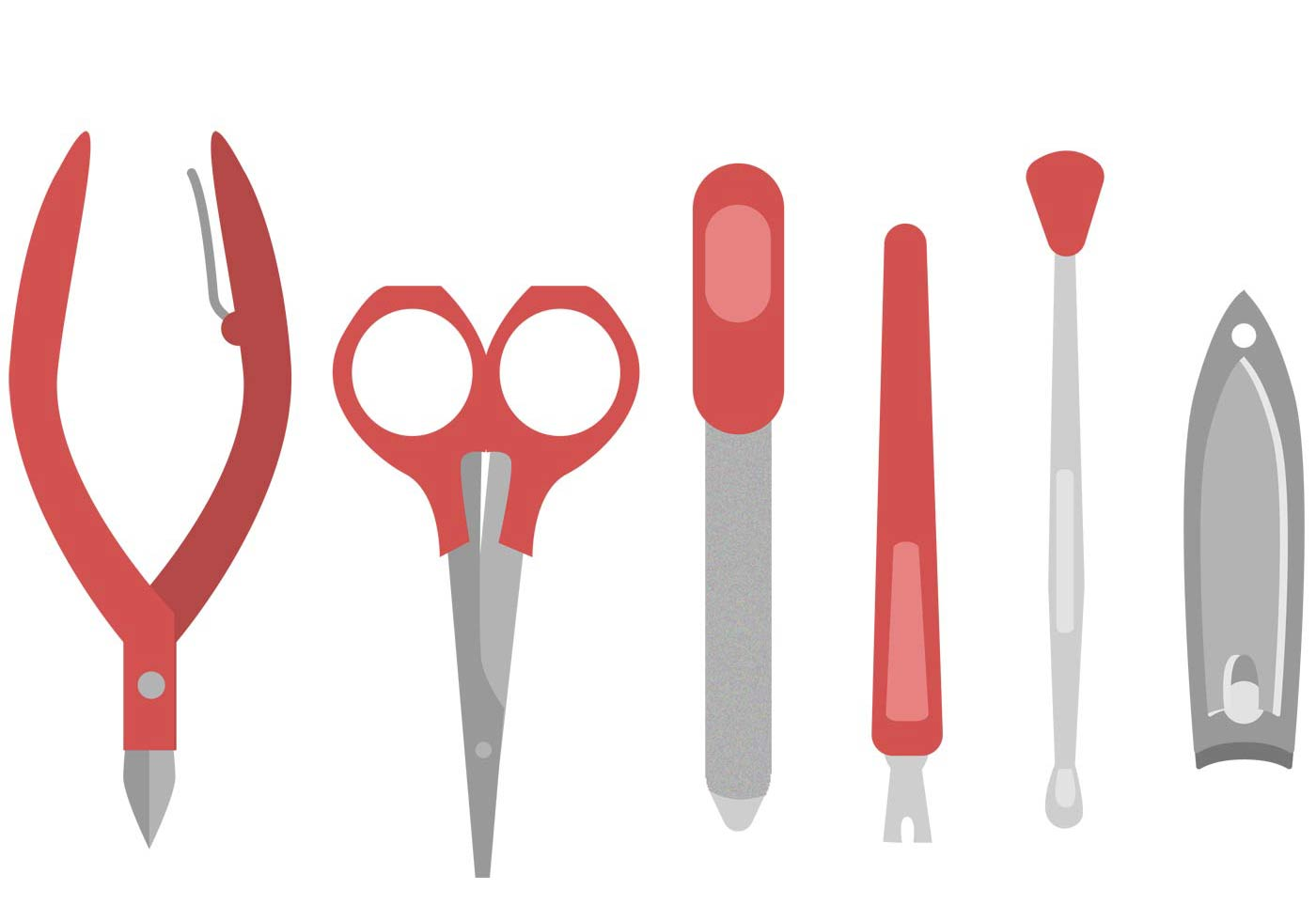 Manicure Pedicure Tools Vector Set - Download Free Vector ...