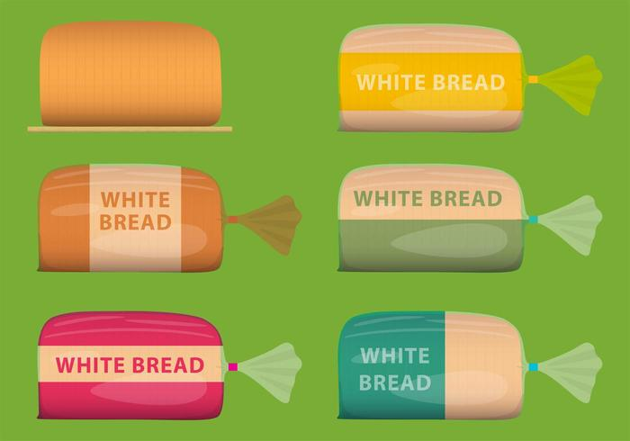 Vector White Bread Packages