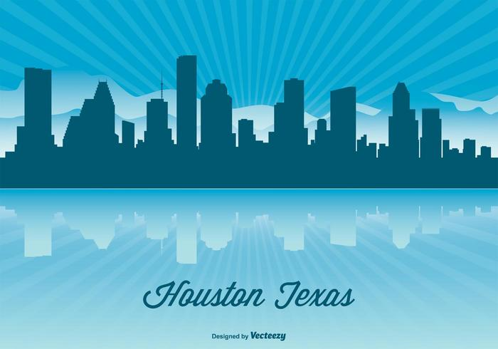 Houston Skyline Illustration