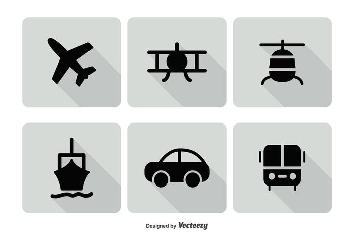 transporation icon set download free vector art stock graphics