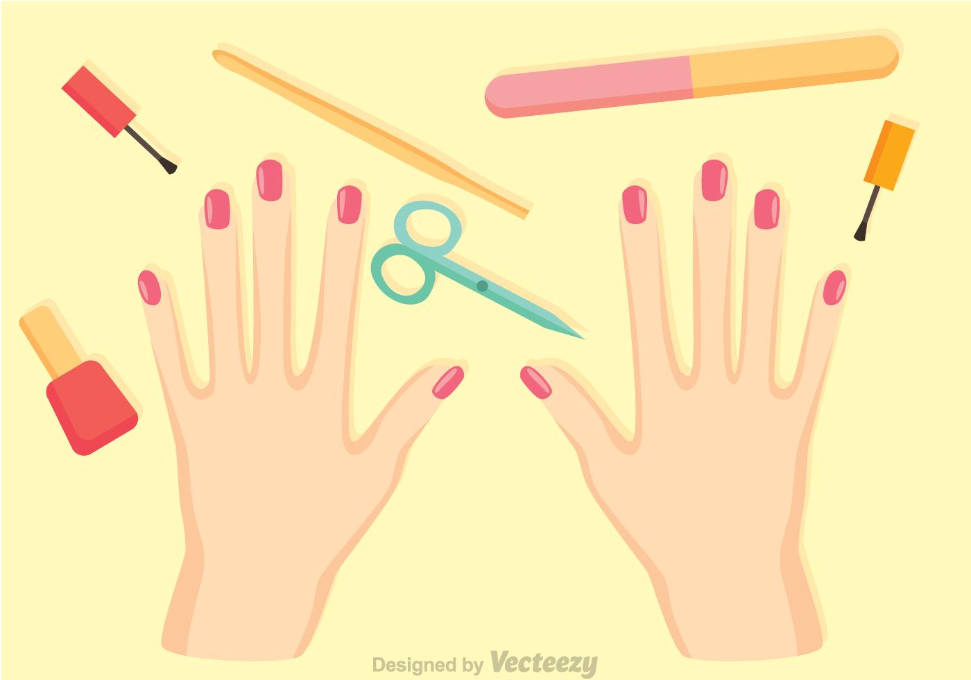 Manicure Procedure Vector - Download Free Vector Art ...