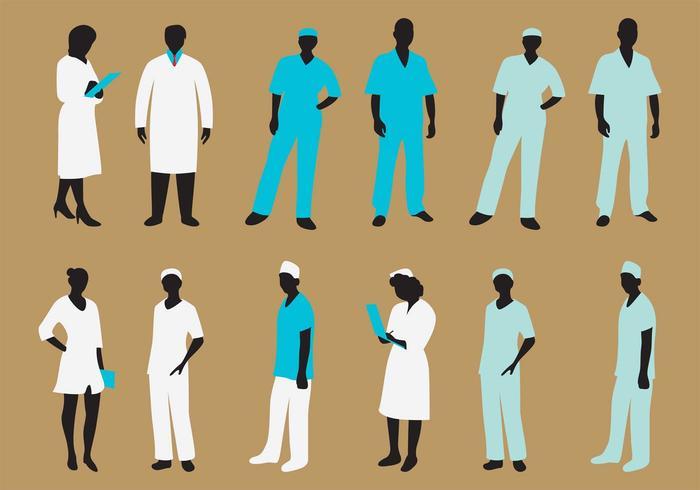 Vector enfermera silueta