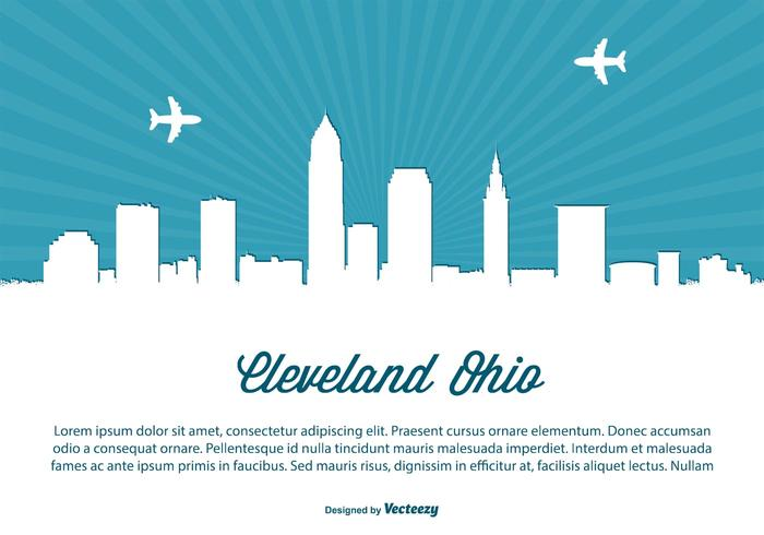 Cleveland Ohio Skyline Illustration