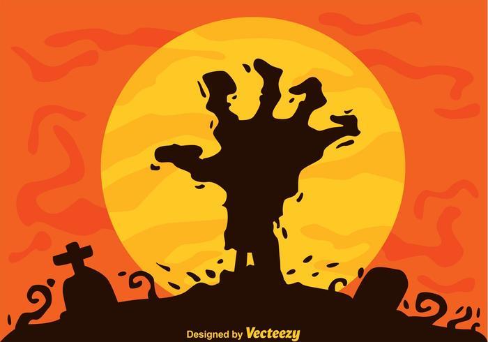 Zombie Mano Vector