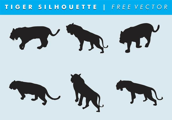 Tiger Silhouette Vector Free