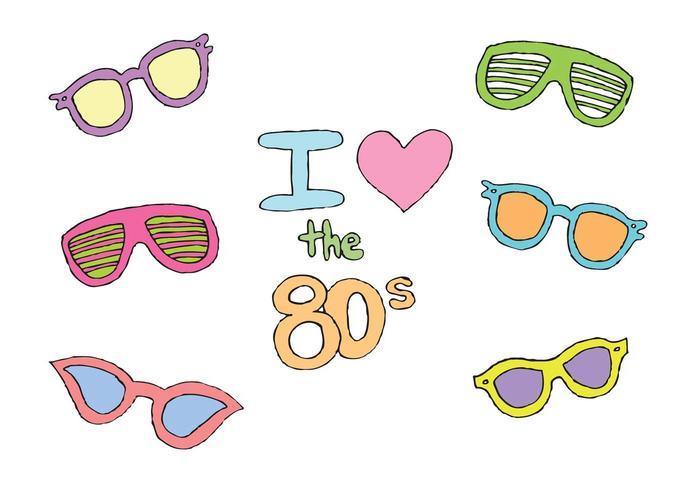 Série de vecteur de lunettes de soleil 80s gratuit