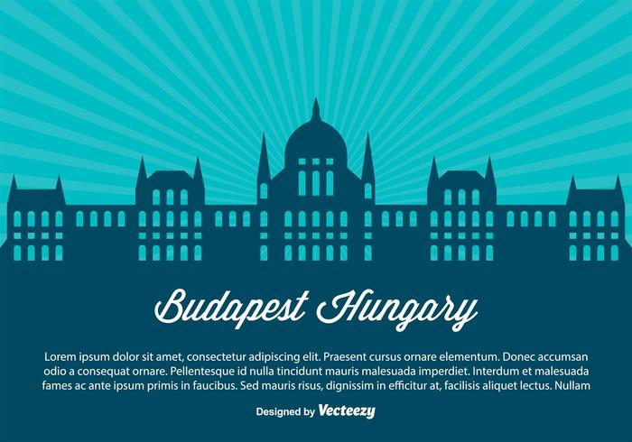 Budapest Hongrie Horizon Illustration