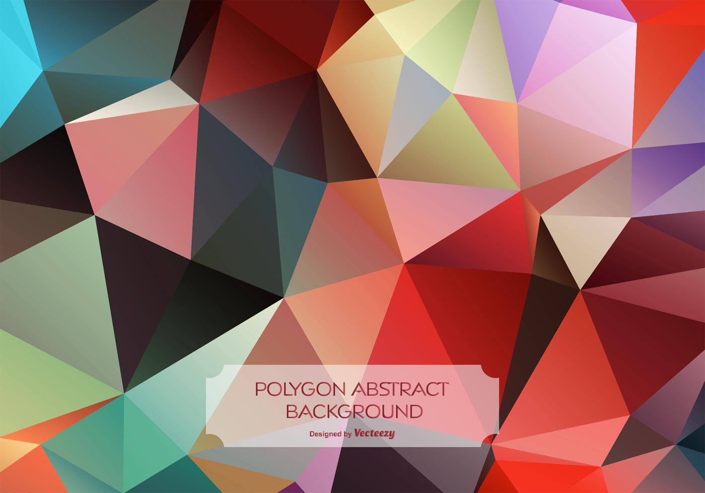 Colorful Abstract Polygon Background - Download Free ...