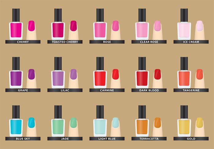 Vector Nail Polish Colors