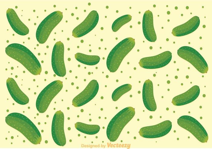 Fresh Cucumber Pattern Vector