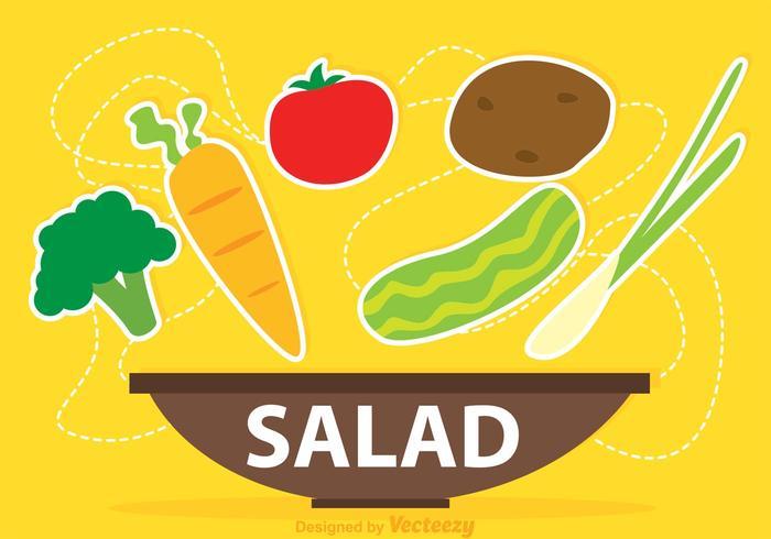 Vecteur de salade