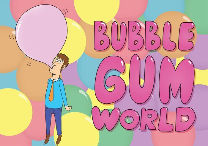 Bubblegum Background Vector
