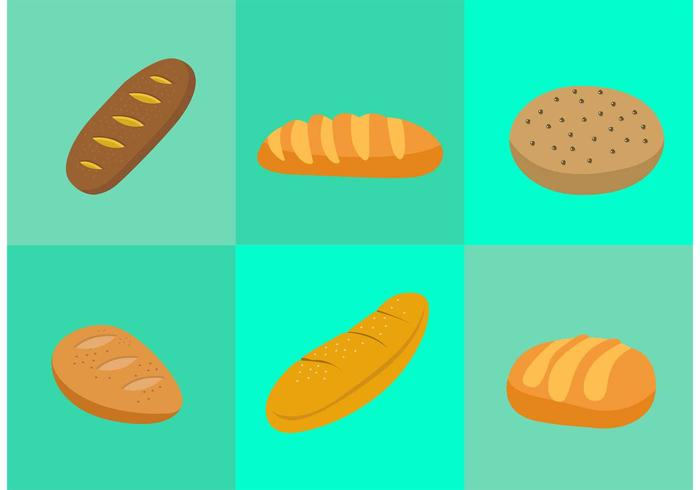 Bread Rolls Vectors