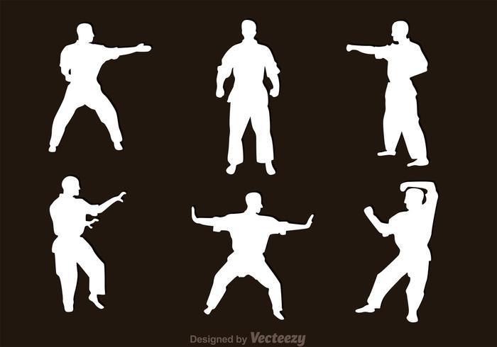 Martial Art Silhouette Vectors