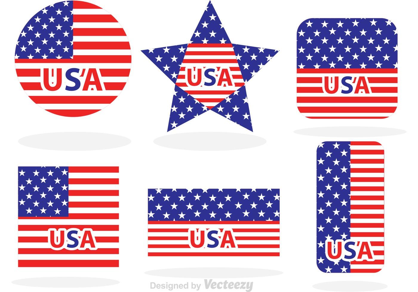 Hecho En Los Estados Unidos Bandera Vectores