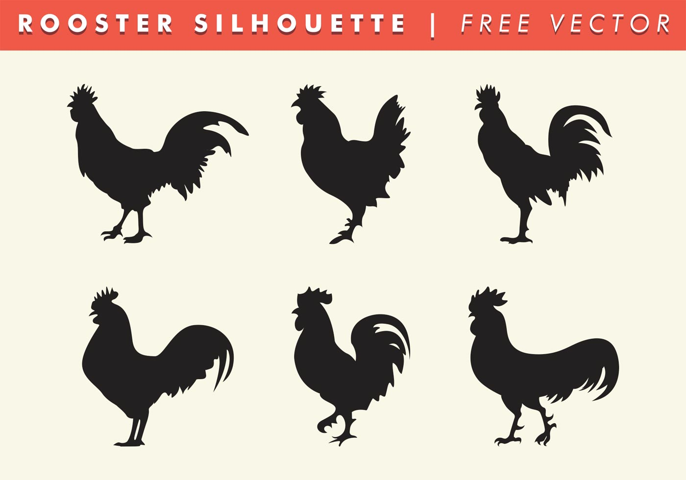Rooster Silhouette Vector Free Download Free Vector Art