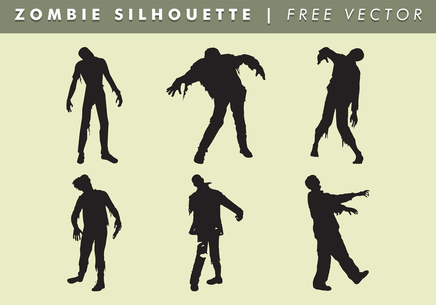 Zombie Silhouette Vector Free