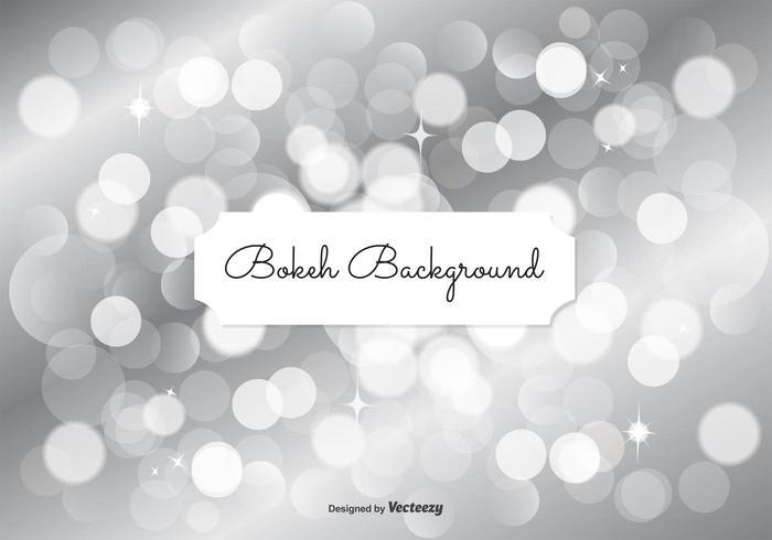 Silver Bokeh Background Illustration