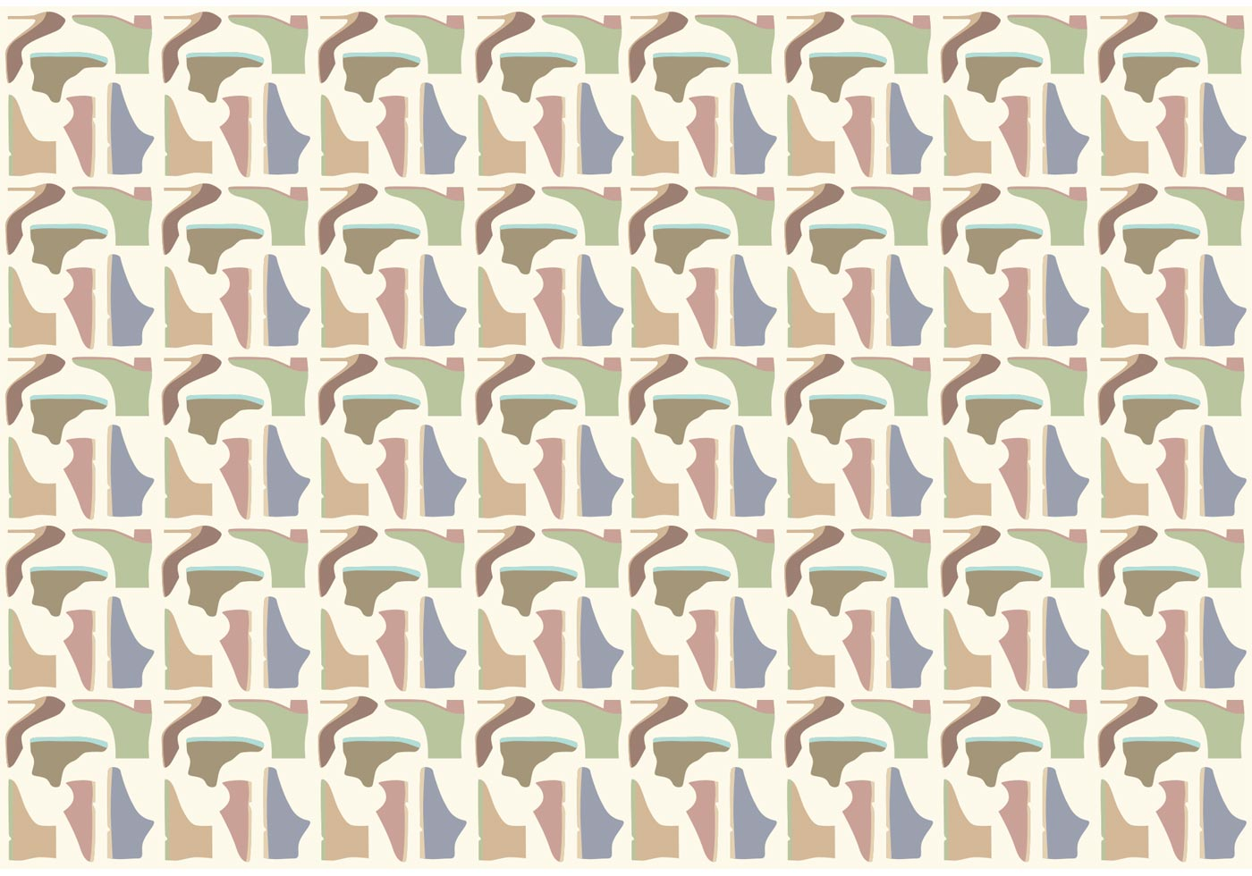 23be41c83da4 Shoes Pattern Background Vector - Download Free Vector Art