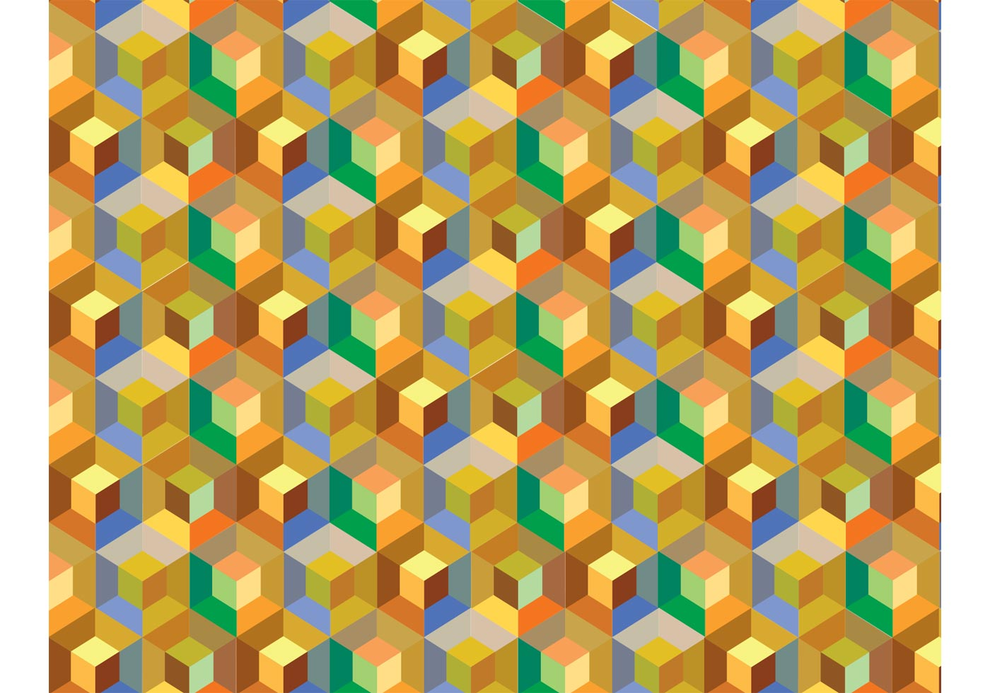Cube Pattern Background Vector Download Free Vector Art