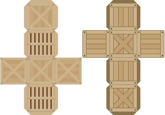 Crates Paper Toys vector
