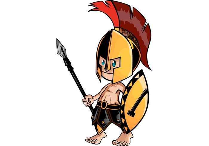 Vector Spartan Cartoon